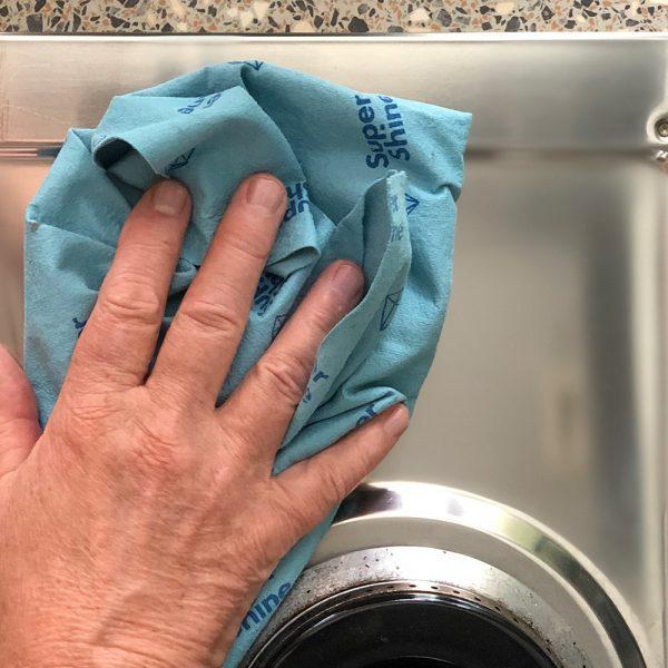 SuperShine Large Streeploos schooon schoonmaakdoek