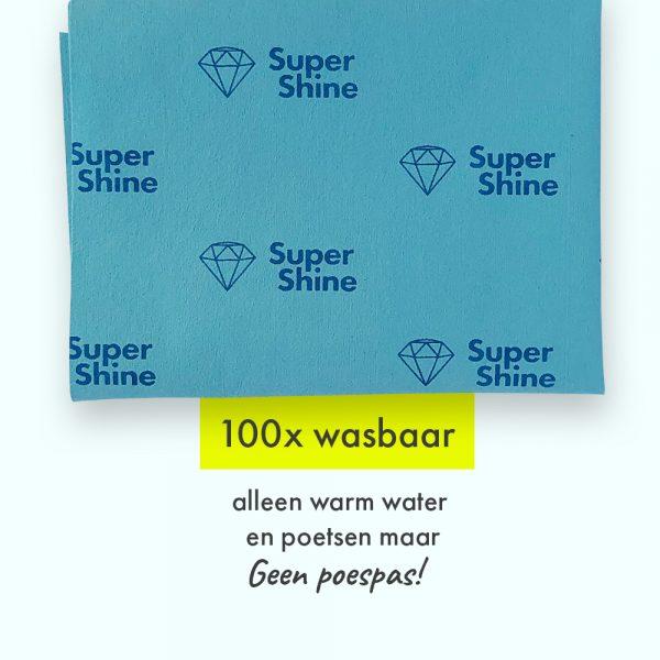 SuperShine Large is 100x wasbaar