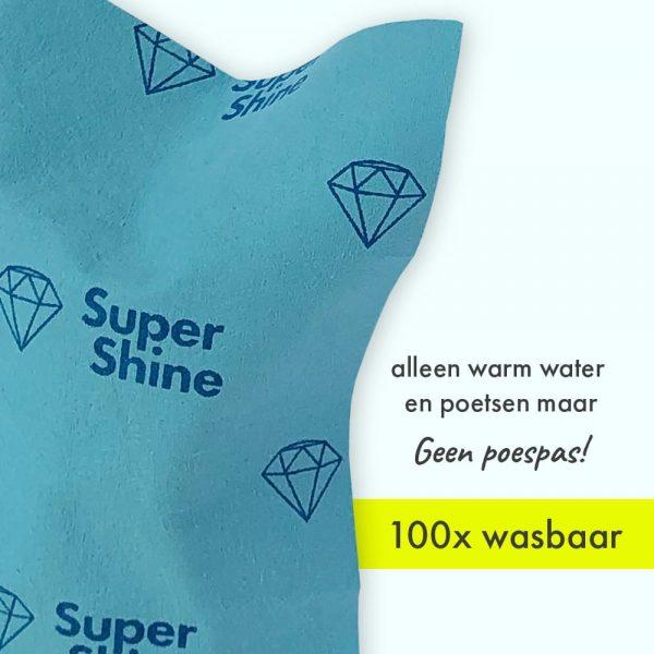 SuperShine Small Brillendoekjes wasbaar
